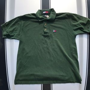 Tommy Hilfiger Army Olive Green Golf Polo Rugby L